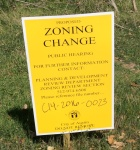 zoning change notice sign